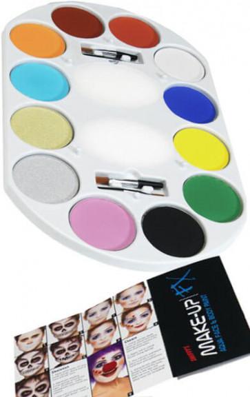 Face Paint 12 Colour Palette
