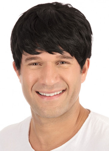 Short Black Mens Wig
