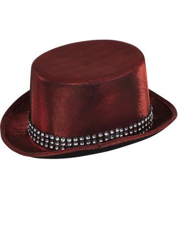 Metallic Red Top Hat