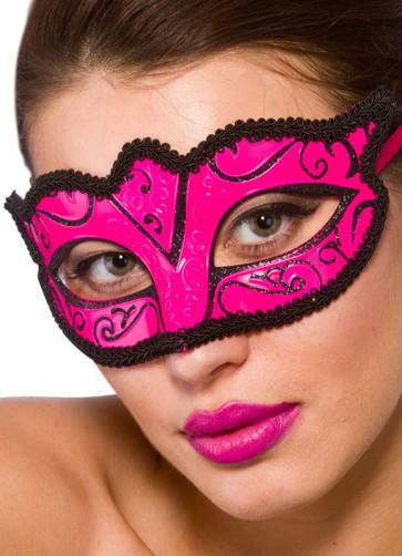 Calypso Eye Mask - Pink & Black