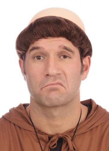 Monks Pat - Bald Wig - Brown