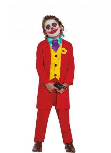 Mr Smile – Red Prankster Suit - Boys