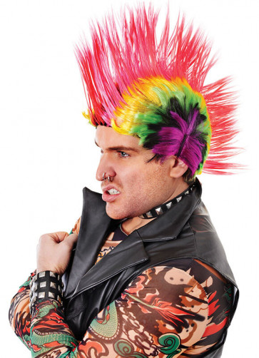Rainbow Mohican Wig