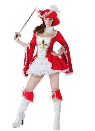 Musketeer Lady (All For One) Red Costume