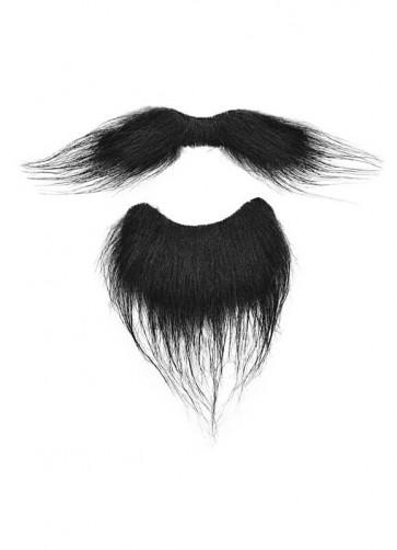 Musketeer Moustache & Beard (Black)