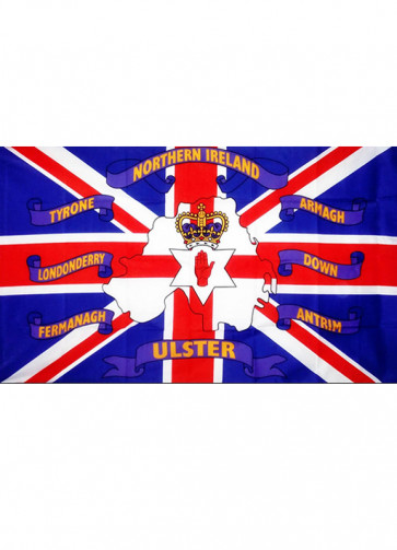 Northern Ireland 6 Counties of Ulster Flag 5x3