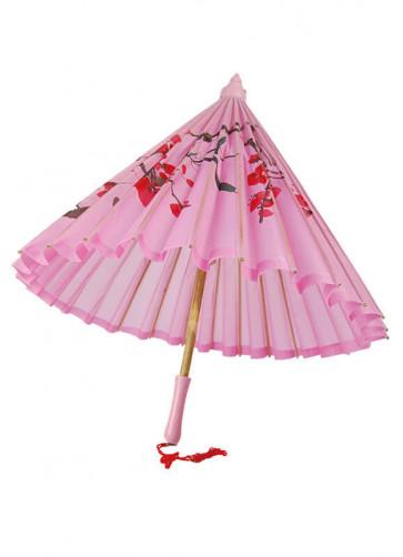 Pink Oriental Paper Parasol
