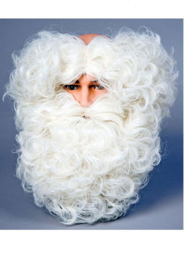 Santa Wig/Beard (Monks-pat design wig) Cream