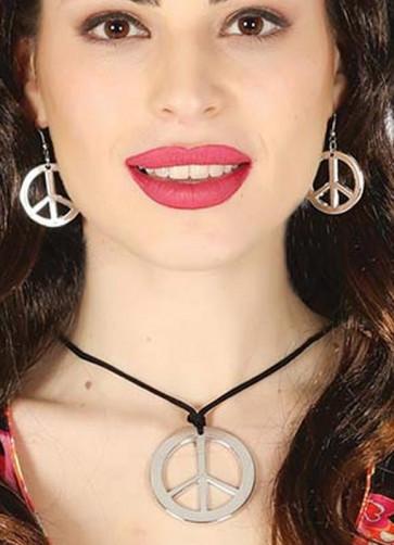 Peace Pendant & Earrings set