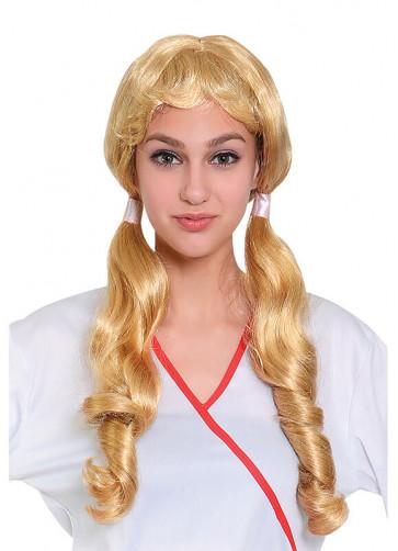 Pigtail Wig - Blonde