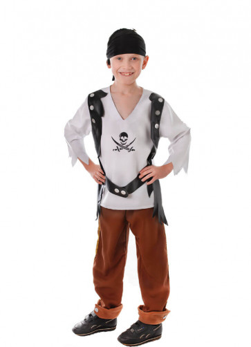 Pirate Boy (Tan Trousers) Costume