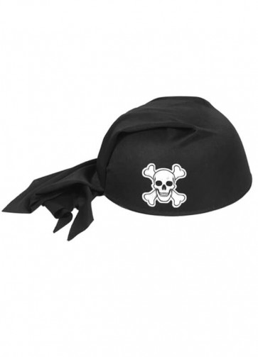 Pirate Hat (Kids) Black With Skull & Crossbones