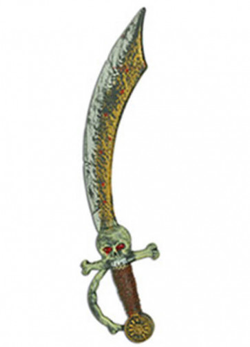 Skull Pirate Skull Cutlass - 44cm