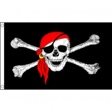 Pirate Skull Bandana Flag 5x3