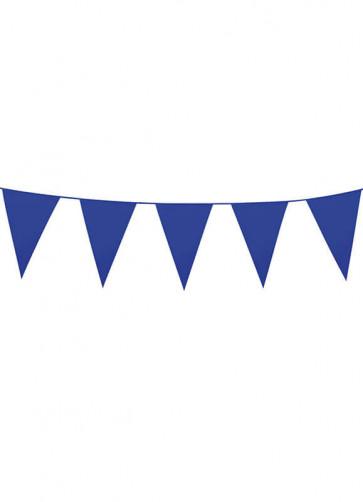 Large Blue Triangular Plastic Bunting 10m