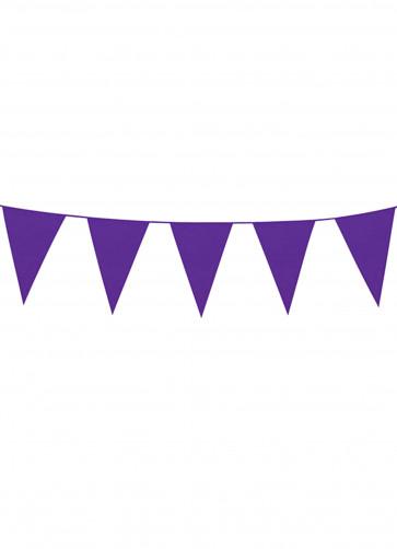 Large Purple Triangular Plastic Bunting 10m