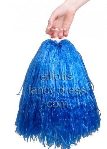 USA Blue Cheerleader Pom Pom - 1 Piece Only