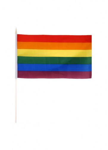 "Pride Hand Flag (Nylon 11.5""x6.5"")"