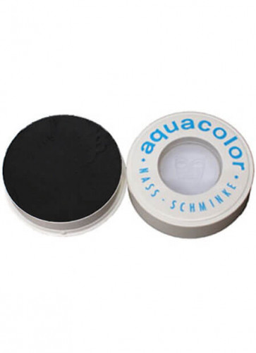 Kryolan Professional Stage Makeup Aquacolor Black Face Paint 30ml