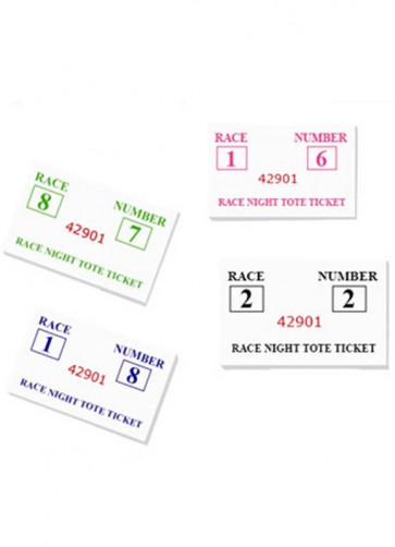 Race-Night Tickets - An Evening Fundraiser at the Horses - Club Fundraising Game (64 Pads)