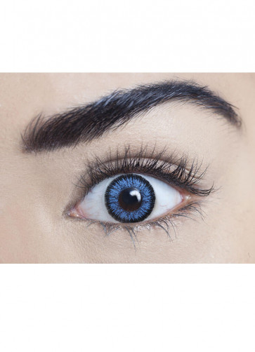 Real Blue Coloured Contact Lenses - One Day Wear
