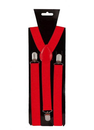 Red Trouser Braces