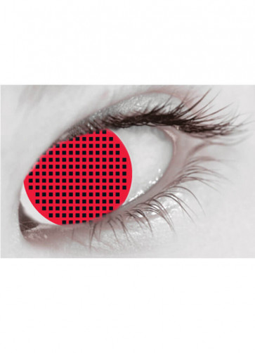 Red Mesh Contact Lenses - 3 Month Wear