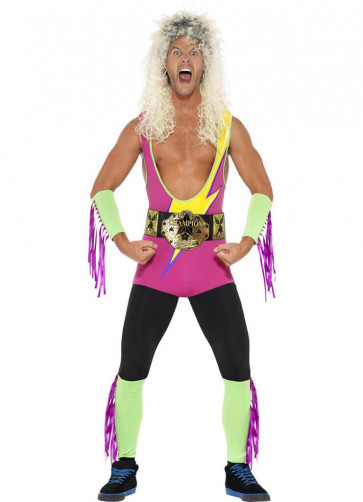 Retro Wrestler Workout Costume