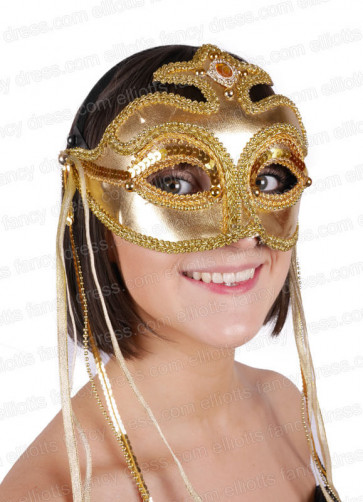 Rialto Gold Eye Mask