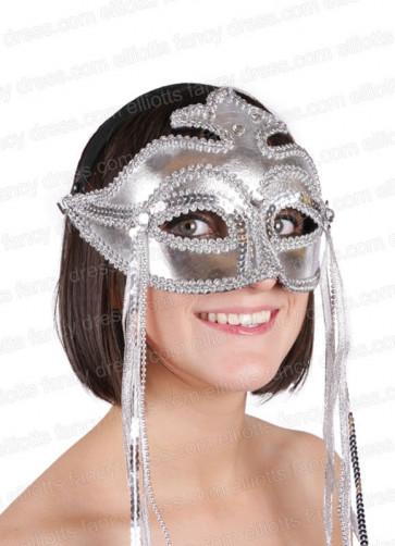 Rialto Silver Eye Mask