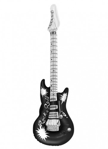 Inflatable Rock N Roll Guitar - Black 106cm