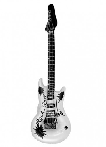 Inflatable Rock N Roll Guitar - White 106cm