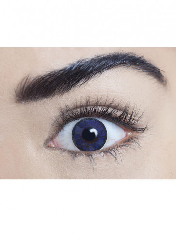 Royal Blue Coloured Contact Lenses - 3 Month Wear