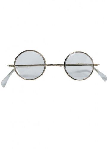 Glasses Santa - Gold Rim With Glass