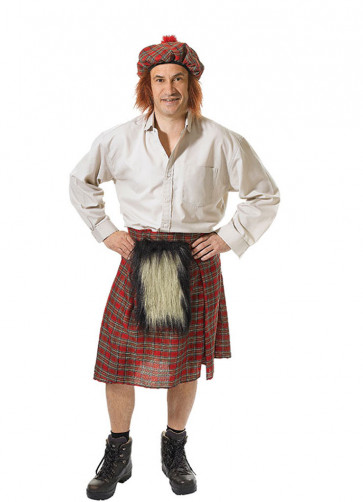 Scots Kilt and Hat Costume