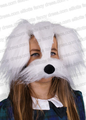 Shaggy Dog Mask with Sound - White
