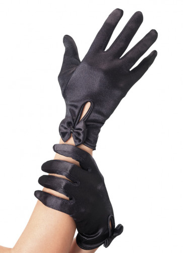 Short Black Gloves (with bows)