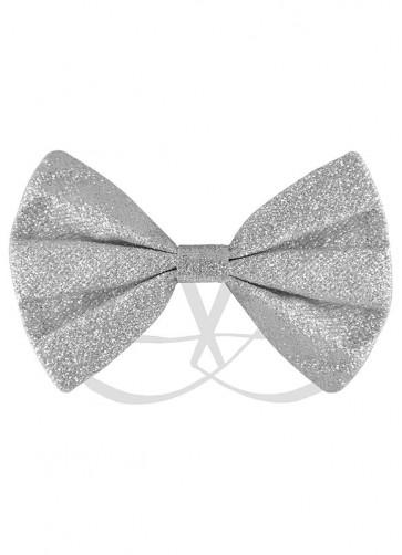 Silver Glitter Bow-Tie