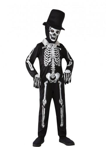 Skeleton Zombie Costume - Black Hat