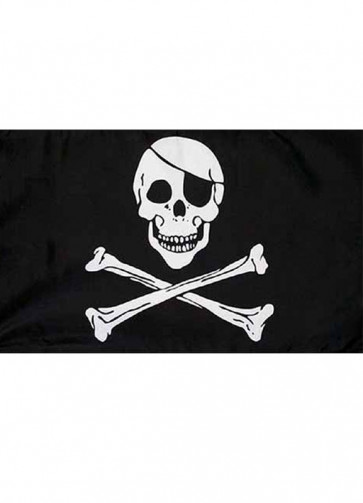 Pirate Skull and Crossbones Flag 5x3