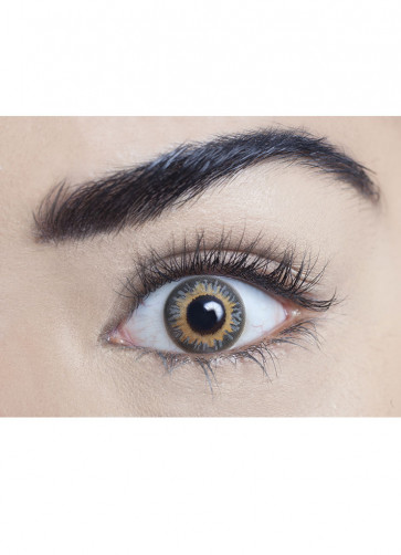 Smokey Grey Coloured Contact Lenses - One Day Wear