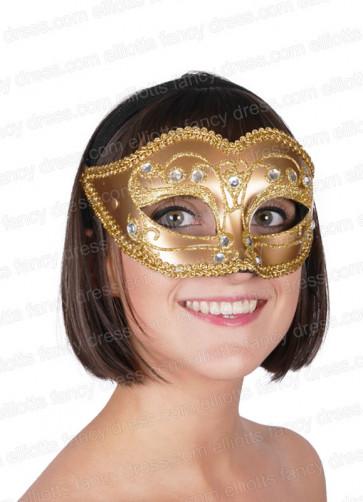 Sophia Eye Mask (Gold)