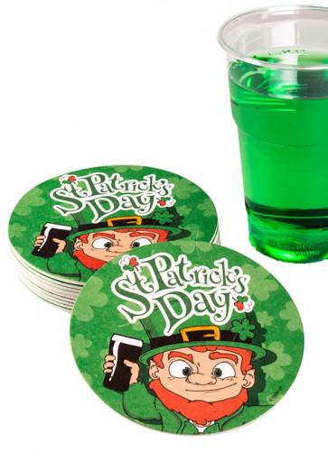 St Patrick's Day Coasters – 10pk – 10cm