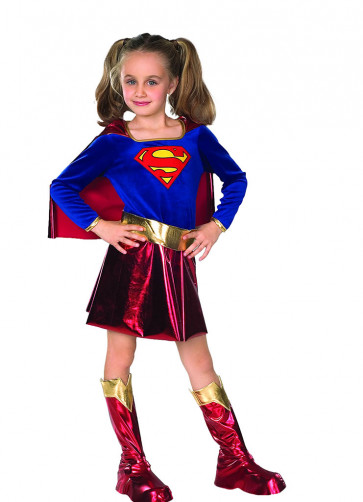 Supergirl Deluxe - Girls Costume