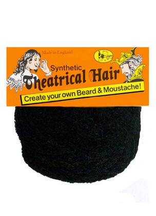 Theatrical Hair Light Grey-Create Your Own Moustache/Beard