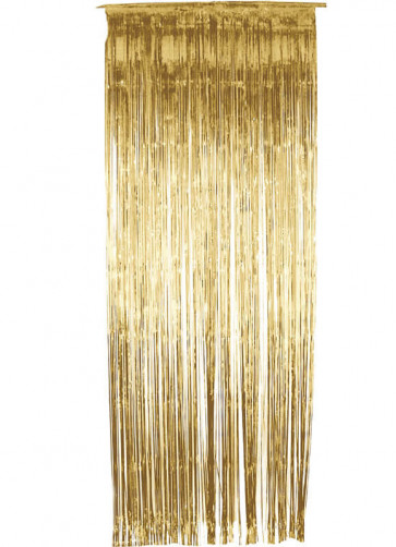 Tinsel Slash/Shimmer Curtain - Gold 3ft x 9ft