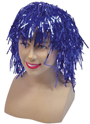 Blue Tinsel Wig
