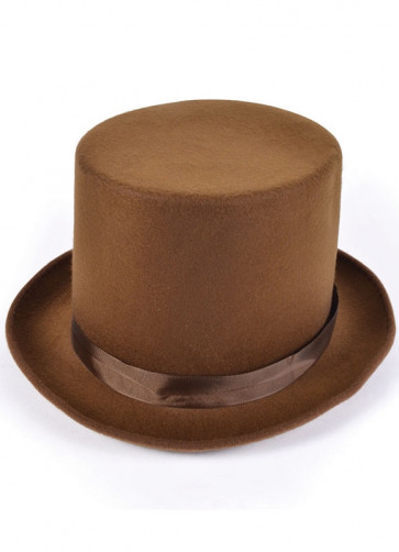 Top Hat - Brown Wool (factory)