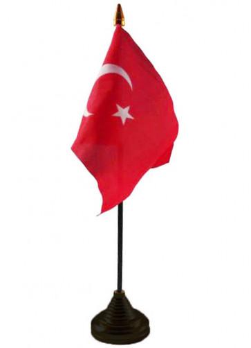 Turkey Table Flag