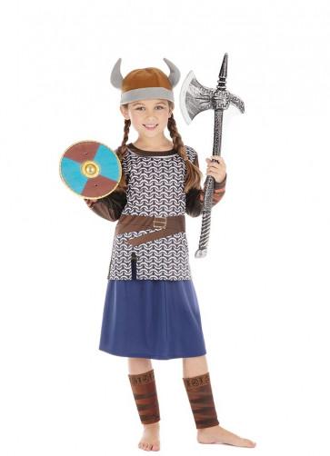 Viking Girl Blue Costume